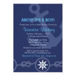 Nautical Baby Shower Invitation, Ahoy! Its a Boy! 5x7 Paper Invitation Card