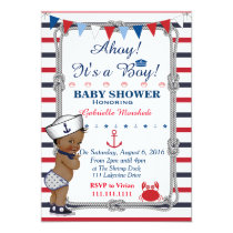 Nautical Baby Shower Invitation, Baby Shower Invitation