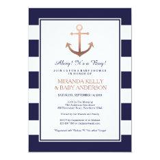 Nautical baby shower invitation, nautical invite at Zazzle