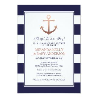 Nautical baby shower invitation, nautical invite