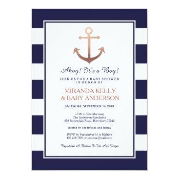 ApplePaperie Nautical baby shower invitation, nautical invite