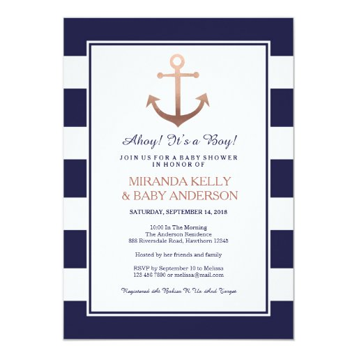 Nautical baby shower invitation, nautical invite