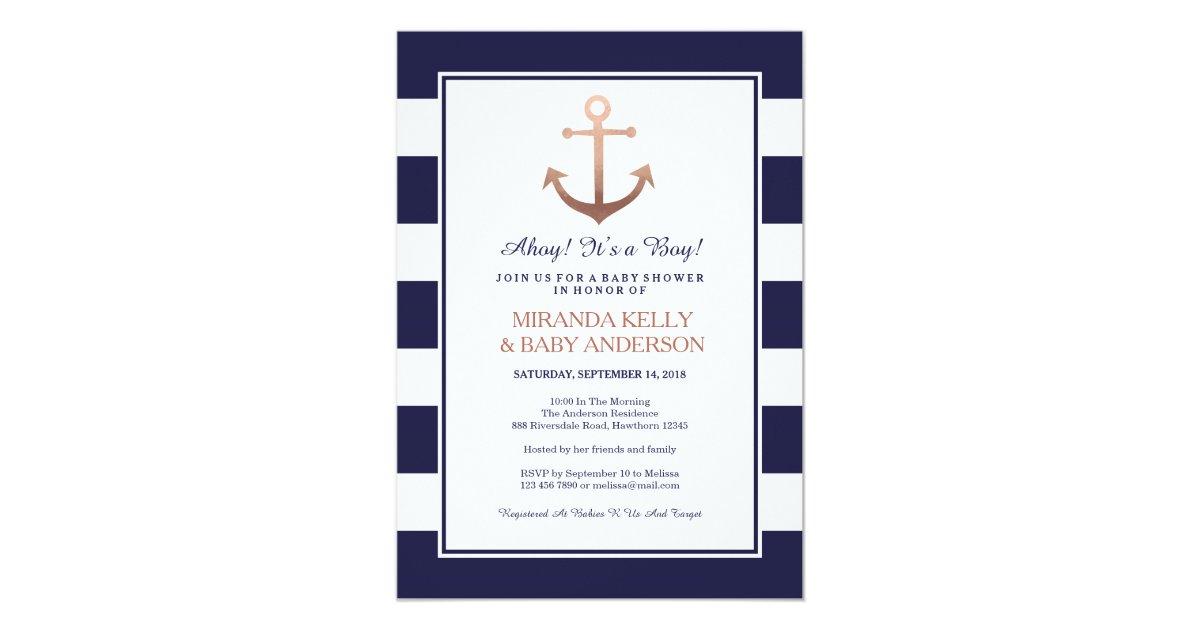 Nautical baby shower invitation, nautical invite   Zazzle.com