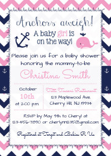Nautical baby shower invitations zazzle nautical baby shower invitations for a girl filmwisefo