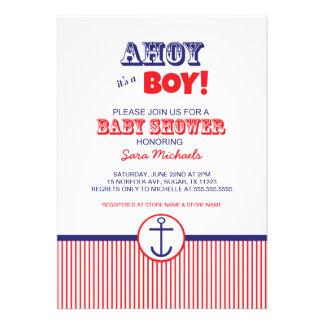 nautical baby shower invites ahoy its a boy invitation