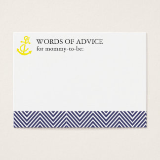 Nautical Baby Shower Mommy Advice Cards