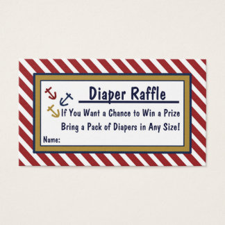 Nautical Baby Shower Ocean Diaper Raffle Cards