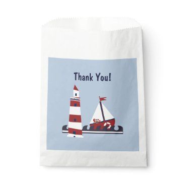 Beach Themed Nautical Baby Shower Ocean Scene Favor Gift Bag