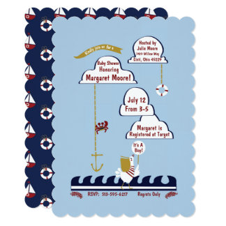 Nautical Baby Shower Playful Ocean Invitation