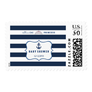 Nautical Baby Shower Postage Stamp