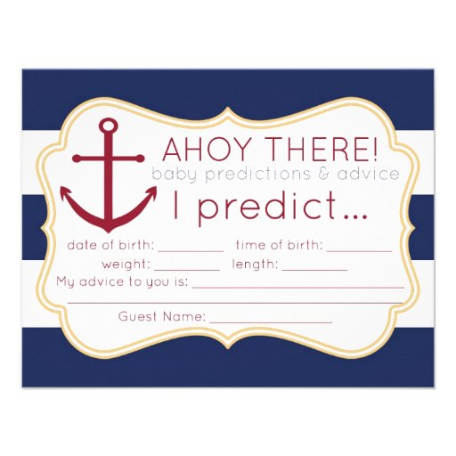 ... baby shower this predictions and advice card makes a fun shower game