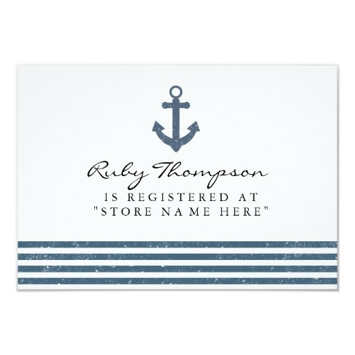 nautical baby shower registry insert card