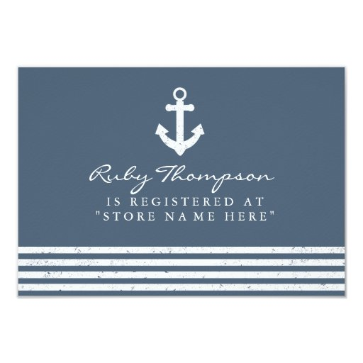 Baby Shower Gifts Off Registry ~ Nautical baby shower registry insert card zazzle