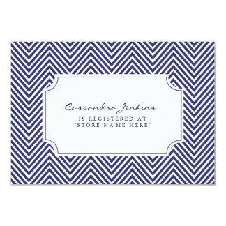 nautical baby shower registry insert card
