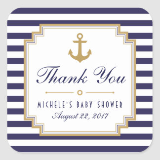 Nautical Baby Shower Thank You Favors Stickers