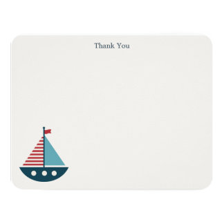 Nautical Baby Shower Thank You Notes Card
