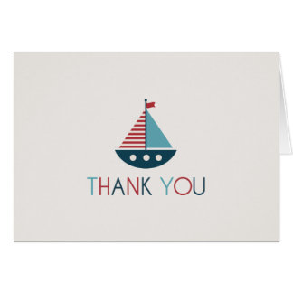 Nautical Baby Shower Thank You Notes Stationery Note Card