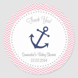 Nautical Baby Shower Thank You Sticker