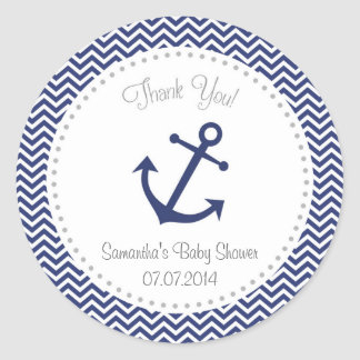 Nautical Baby Shower Thank You Sticker