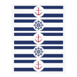 Nautical Baby Shower Water Bottle Labels Personalized Flyer