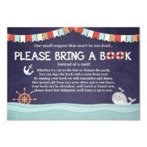 Nautical Baby shower Whale Ocean Bring a Book card