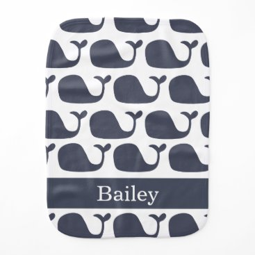 Beach Themed Nautical Baby Whale Burp Cloth