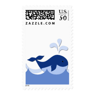 Nautical Baby Whale Postage Stamp