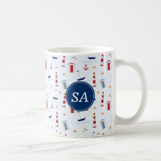 Nautical Back to School Dorm Essentials Coffee Mug