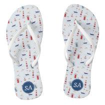 Nautical Back to School & Dorm Essentials Flip Flops