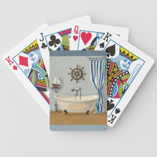 Nautical Bathroom Bicycle Playing Cards