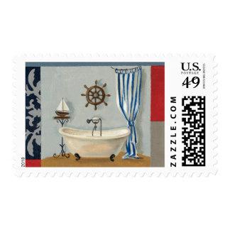Nautical Bathroom Postage