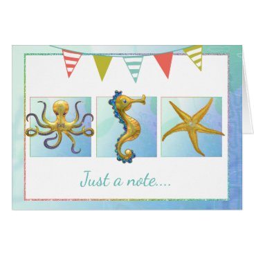 Beach Themed Nautical Beach All Occasion Card