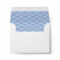 Nautical Beach Blue Ocean Waves Cute 3.5x5 Custom Envelope