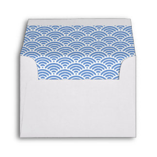 Nautical Beach Blue Ocean Waves Cute 3.5x5 Custom Envelope