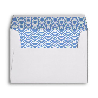 Nautical Beach Blue Ocean Waves Cute 5x7 Envelope