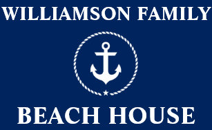 Nautical Beach House Family Name Anchor Blue Large Doormat