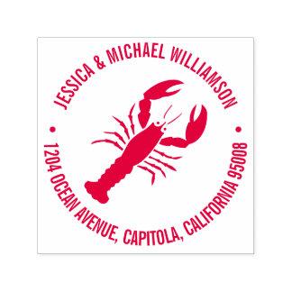 Nautical Beach Ocean Lobster Return Address Self-inking Stamp
