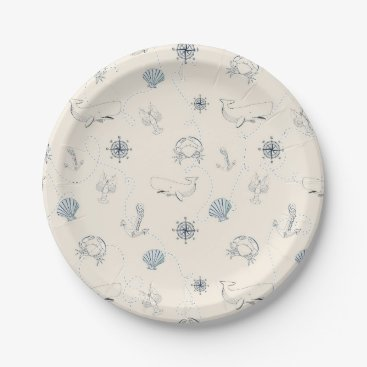 Beach Themed Nautical Beach Paper Plate