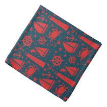 Nautical Beach pattern fun bandana