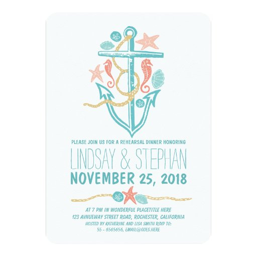 Nautical Rehearsal Dinner Invitations is an amazing ideas you had to choose for invitation design