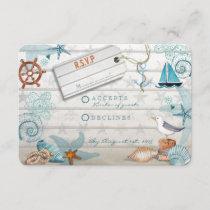 Nautical Beach   RSVP Wedding Card
