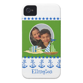 Nautical Beach Sail Boat Toys Typography Style Case-Mate iPhone 4 Case