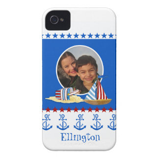 Nautical Beach Sail Boat Toys Typography Style iPhone 4 Case