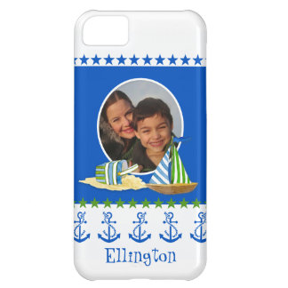 Nautical Beach Sail Boat Toys Typography Style iPhone 5C Case