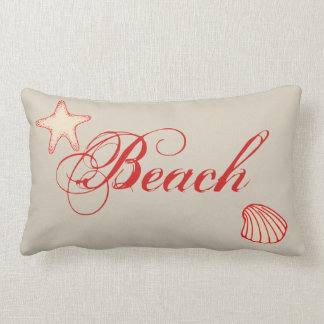 Nautical Beach Starfish Shell Throw Pillow Decor
