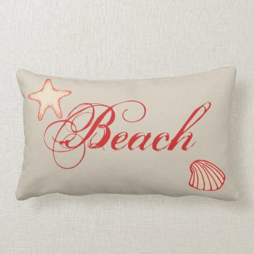 Beach Themed Nautical Beach Starfish Shell Throw Pillow Decor