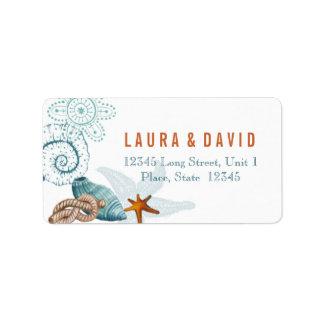 Nautical Beach Wedding | Address Labels