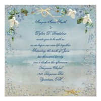Nautical Beach Wedding Card