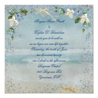 Nautical Beach Wedding Card