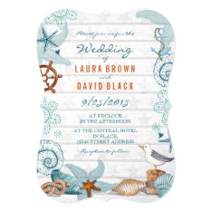 Nautical Beach | Wedding Invitation at Zazzle